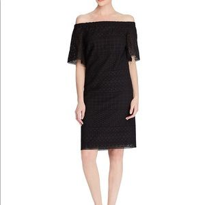 NWT Lauren Ralph Lauren Eyelet Offshoulder Dress